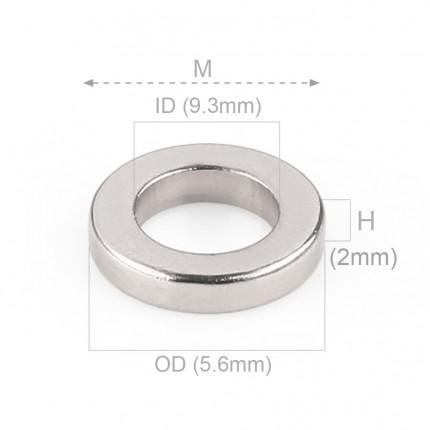 1000 Pcs Ring Neodymium Magnets | Size: 9.3mm(OD) x 5.6mm(ID)x 2mm | N40 | Nickel(Ni-Cu-Ni) - MAGANETSHUB