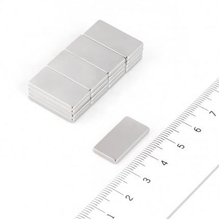 50 Pcs Block Neodymium Magnets | Size: 20×10×2mm | N42 | Nickel(Ni-Cu-Ni) - MAGANETSHUB