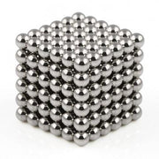 216 Pcs Sphere Neodymium Magnetic balls | Size: OD=4mm | N42| Nickel(Ni-Cu-Ni)| Color: Nickel - MAGANETSHUB