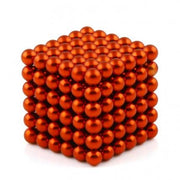 216 Pcs Sphere Neodymium Magnetic balls | Size: OD=5mm | N42| Nickel(Ni-Cu-Ni)| Color: Red - MAGANETSHUB