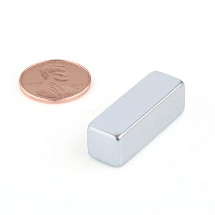 10 Pcs Block Neodymium Magnets | Size: 30×10×10mm | N42 | ZN - 0.626kg pull - MAGANETSHUB