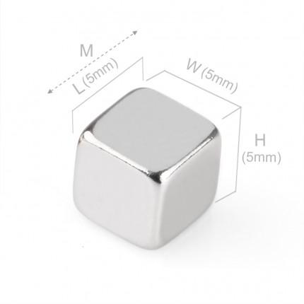 50 Pcs Block Neodymium Magnets | Size: 5×5×5mm | N42 | Nickel(Ni-Cu-Ni) - MAGANETSHUB