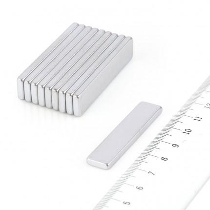 10 Pcs Block Neodymium Magnets | Size: 45×10×3mm | N45 | ZN - 4.722kg pull - MAGANETSHUB