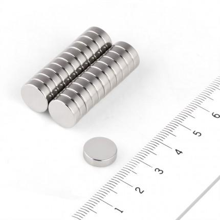100 Pcs Disc Neodymium Magnets | Size: 10×2.5mm | N50 | Nickel(Ni-Cu-Ni) - MAGANETSHUB
