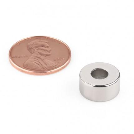 50 Pcs Ring Neodymium Magnets | Size: 12mm(OD) x 5mm(ID)x 6mm | N50 | Nickel(Ni-Cu-Ni) - MAGANETSHUB