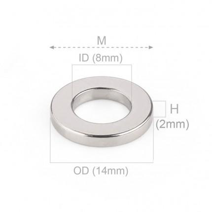 1000 Pcs Ring Neodymium Magnets | Size: 24mm(OD) x 18mm(ID)x 2mm | N50 | Nickel(Ni-Cu-Ni) - MAGANETSHUB