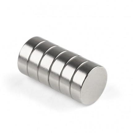 60 Pcs Disc Neodymium Magnets | Size: 15×5mm | N50 | Nickel(Ni-Cu-Ni) - MAGANETSHUB