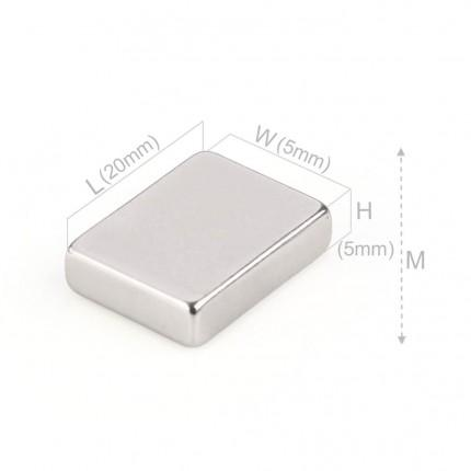 500 Pcs Block Neodymium Magnets | Size: 20×15×5mm | N50 | Nickel(Ni-Cu-Ni) - MAGANETSHUB