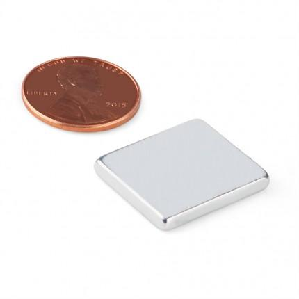 10 Pcs Block Neodymium Magnets | Size: 21×18×3mm | N50 | Nickel(Ni-Cu-Ni) - MAGANETSHUB