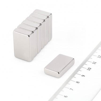 5 Pcs Block Neodymium Magnets | Size: 25×15×6mm | N50 | Nickel(Ni-Cu-Ni) - MAGANETSHUB