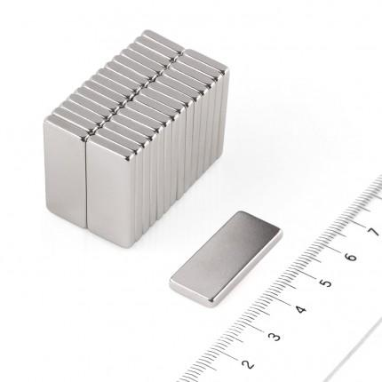 50 Pcs Block Neodymium Magnets | Size: 28×12×3mm | N50 | Nickel(Ni-Cu-Ni) - MAGANETSHUB