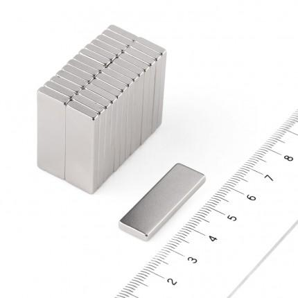 50 Pcs Block Neodymium Magnets | Size: 30×10×3mm | N50 | Nickel(Ni-Cu-Ni) - MAGANETSHUB