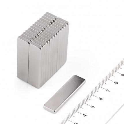 50 Pcs Block Neodymium Magnets | Size: 40×10×3mm | N50 | Nickel(Ni-Cu-Ni) - MAGANETSHUB