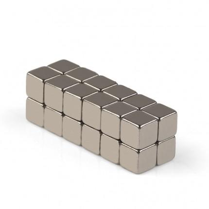 24 Pcs Block Neodymium Magnets | Size: 4×4×4mm | N50 | Nickel(Ni-Cu-Ni) - MAGANETSHUB