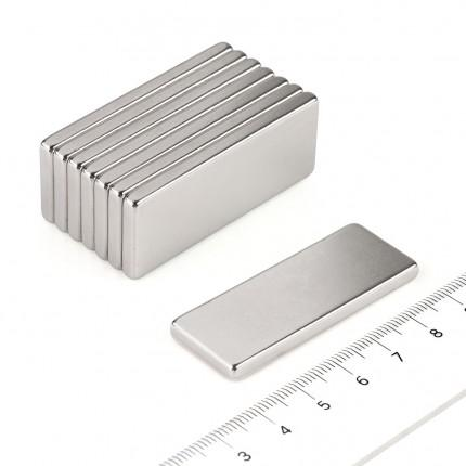5 Pcs Block Neodymium Magnets | Size: 50×20×4mm | N50 | Nickel(Ni-Cu-Ni) - MAGANETSHUB