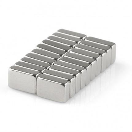20 Pcs Block Neodymium Magnets | Size: 6×4×2mm | N50 | Nickel(Ni-Cu-Ni) - MAGANETSHUB