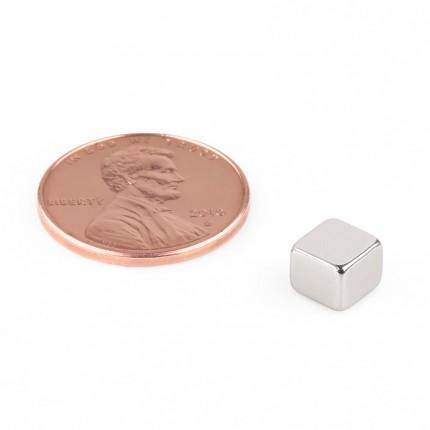 100 Pcs Block Neodymium Magnets | Size: 6×6×5mm | N50 | Nickel(Ni-Cu-Ni) - MAGANETSHUB