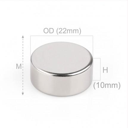 20 Pcs Disc Neodymium Magnets | Size: 22×10mm | N52 | Nickel(Ni-Cu-Ni) - MAGANETSHUB