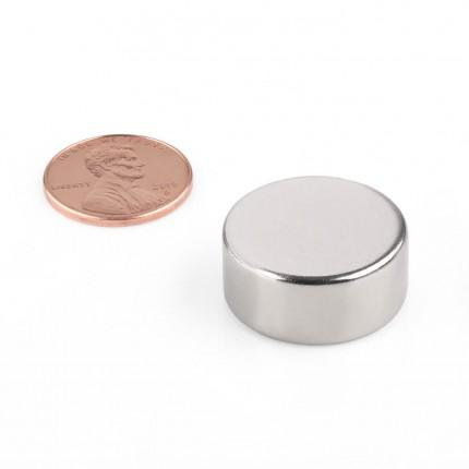 20 Pcs Disc Neodymium Magnets | Size: 22×10mm | N42 | Nickel(Ni-Cu-Ni) - MAGANETSHUB