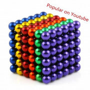 216 Pcs Sphere Neodymium Magnetic balls | Size: OD=5mm | N42| Nickel(Ni-Cu-Ni)| Color: Mixed - MAGANETSHUB