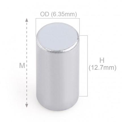 100 Pcs Rod Neodymium Magnets | Size: 6.35×12.7mm | N50 | ZN - 2.413kg pull - MAGANETSHUB