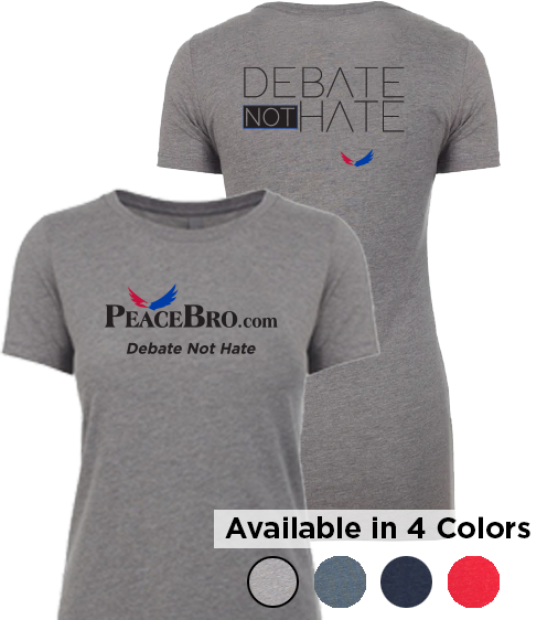 Women's Debate NOT Hate T-Shirt