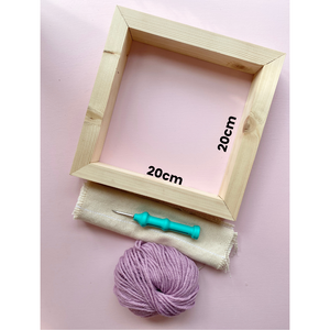 Punch Needle Wooden Frames - Supplies