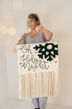 Load image into Gallery viewer, Oh Holy Night - Made To Order Punch Needle Wall Hanging - Christmas