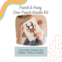 Load image into Gallery viewer, Punch & Hang - Deer Punch Needle Kit