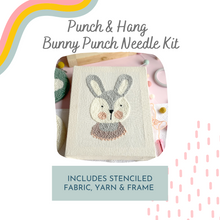 Load image into Gallery viewer, Punch & Hang Kit - Bunny Punch Needle Kit