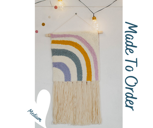 Half Rainbow - Punch Needle Wall Art  - Made to order