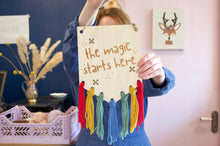 Load image into Gallery viewer, 'The Magic Starts Here' Beginner Embroidery Kit - Beginner