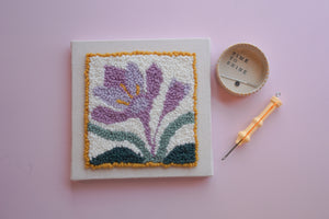International Punch Needle Day Pattern - Pre Stretched Frame & Fibre Pack - Supplies