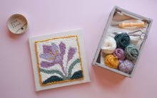 Load image into Gallery viewer, International Punch Needle Day Pattern - Pre Stretched Frame & Fibre Pack - Supplies