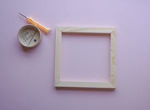 Handmade Wooden Frame - 18.5cm x 18.5cm - Supplies