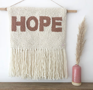 Premade - HOPE Punch Embroidery Wall Hanging