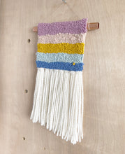 Load image into Gallery viewer, Multi Coloured Rainbow White Tassels- Premade Mini