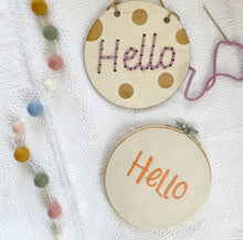 Load image into Gallery viewer, Hello Beginner Embroidery Kit