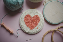 Load image into Gallery viewer, No Needle - Starter Punch Needle Kit - Heart Shaped