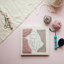 Load image into Gallery viewer, Punch & Hang - Motherhood Punch Needle Kit