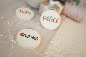 "Hope, Peace & Kindness 4""  - Christmas"