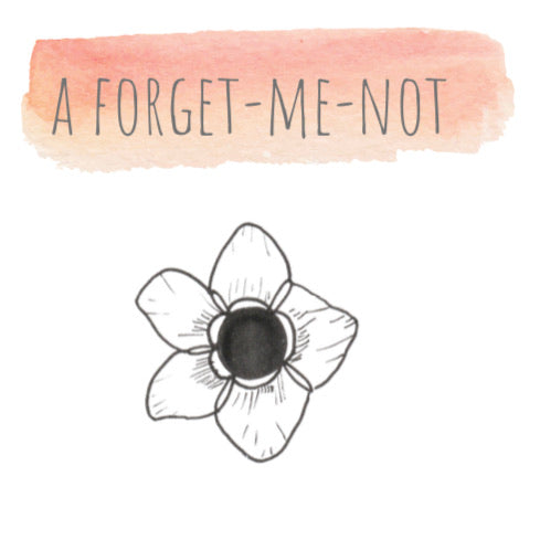 Little Forget Me Not Doodle with Jo from Willow & Weeds - Free Resource