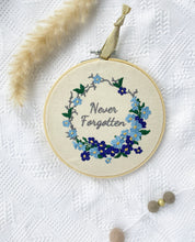 "Load image into Gallery viewer, LFMN Never Forgotten 6"" - Embroidery Hoop"