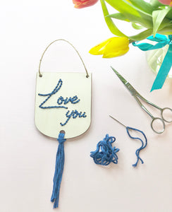 Love You - Beginner Hand Embroidery Kit