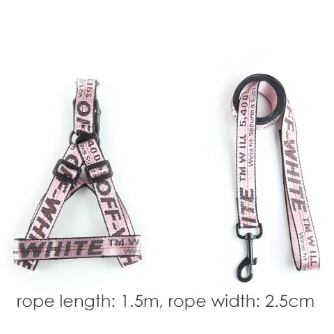 Fashion Lettered Pet Dog Collar 1.5cm Durable