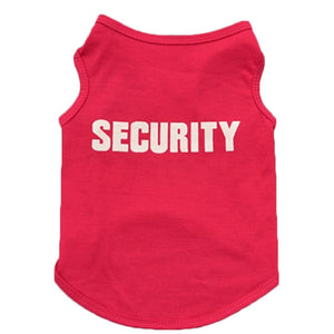 Printed Security Cotton Dog T-Shirt