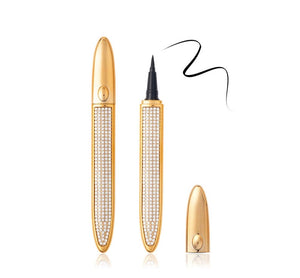 Luxury Black Liquid Diamond Eyeliner 2in1 Pen Glue For Lashes Adhesive