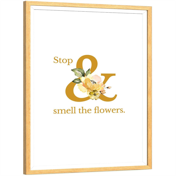 Yellow Flower Floral Canvas Wall Art Picture
