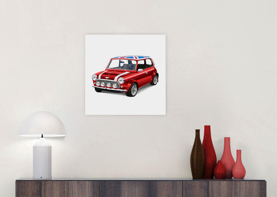 mini cooper lifestyle canvas modern 49cm square 1s277s for your boys bedroom