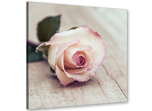 cheap vintage shabby chic french rose cream realism canvas modern 79cm square 1s278l for your bedroom